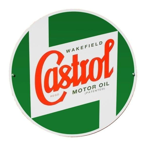 Castrol Classic Metal Round Sign