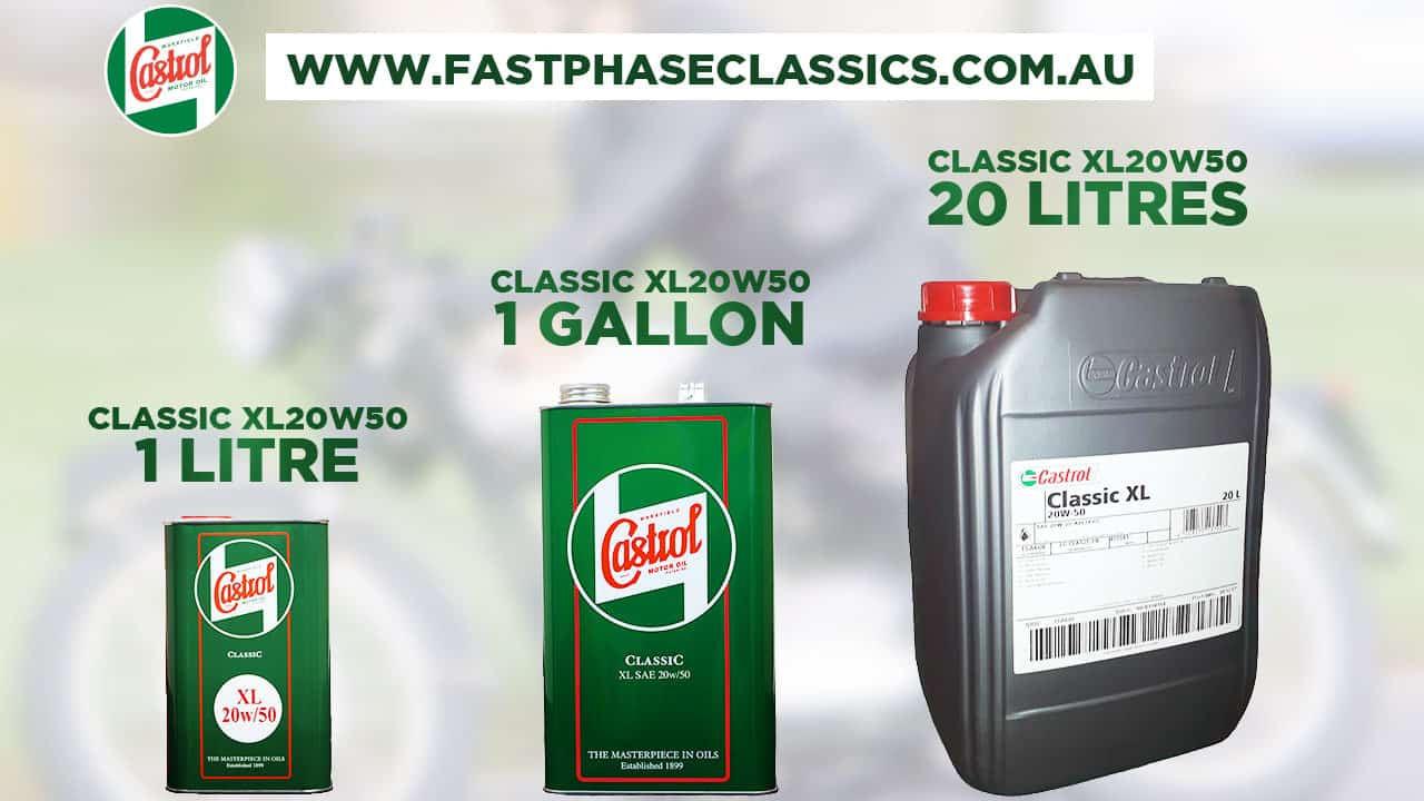 20w50 for classic cars and motor cycles-Sizes