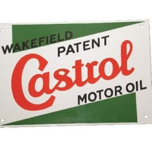 castrol large enamel sign